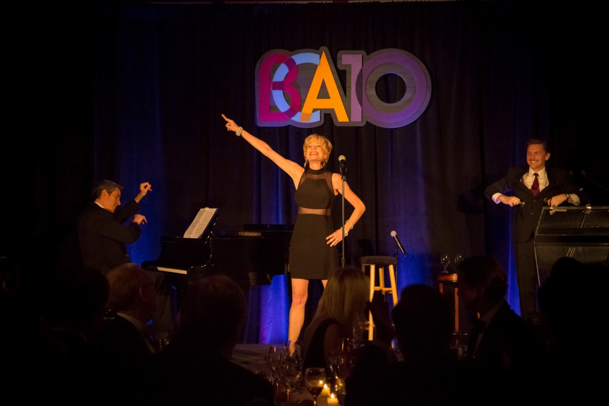 Marin Mazzie and Jason Danieley perform at the BCA 10 with Joseph Thalken on the piano. Photo by Rana Faure.