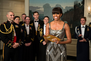 "First Lady Michelle Obama presented the nominees for Best Picture and announced ""Argo"" as the winning film via satellite."