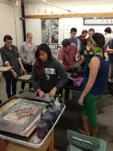 Workshop, photo courtesy of Combat Paper