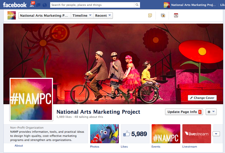 Americans for the Arts' NAMP Facebook Page
