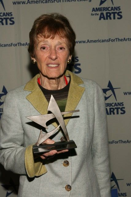 Joan Mondale accepting the Public Art Network Annual Award from Americans for the Arts, 2008