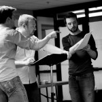 Actors rehearsing for the Humana Festival of New American Plays.