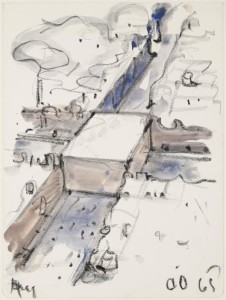 Claes Oldenburg, Proposed Monument for the Intersection of Canal Street and Broadway, N.Y.C, 1965.