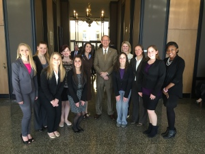 USC Dance Education Students and me with Rep. Ralph Shealy Kennedy
