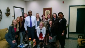 USC Dance Education Students and me with Senator Darrell Jackson