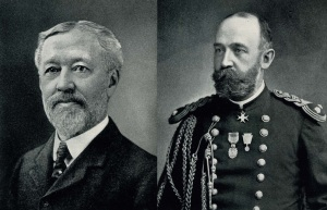 Henry Fox (left) and Charles Howell (right) founders of the Fairmount Park Art Association, chartered in 1872 © Fairmount Park Art Association/Association for Public Art