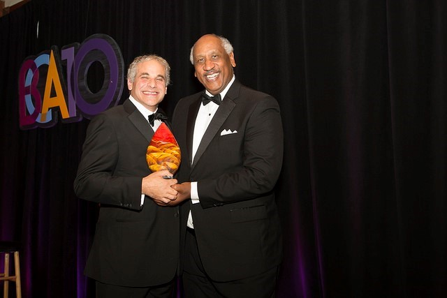 2016 BCA Leadership Award winner Robert Buchsbaum (left) and Edgar Smith, BCA Executive Board Chairman and CEO of World Pac Paper.