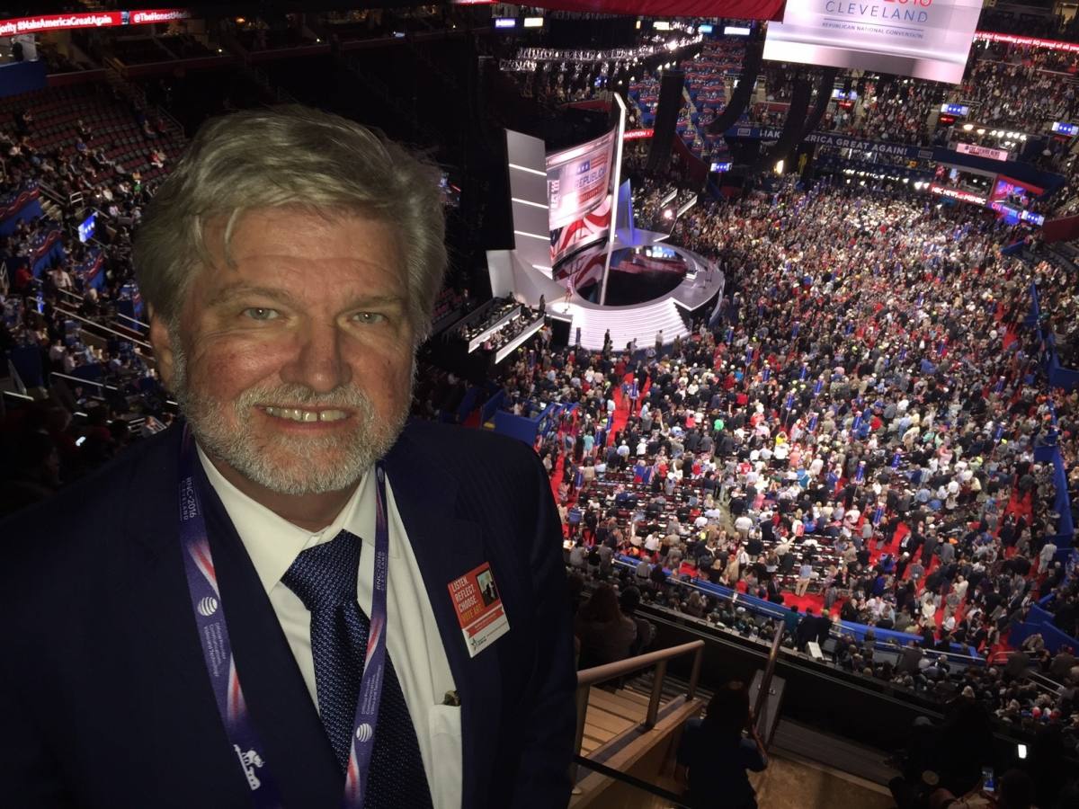 I was excited to be given VIP credentials to the Republican National Convention in the Quicken Loans Arena in Cleveland to be able to hear speeches and meet delegates in person.
