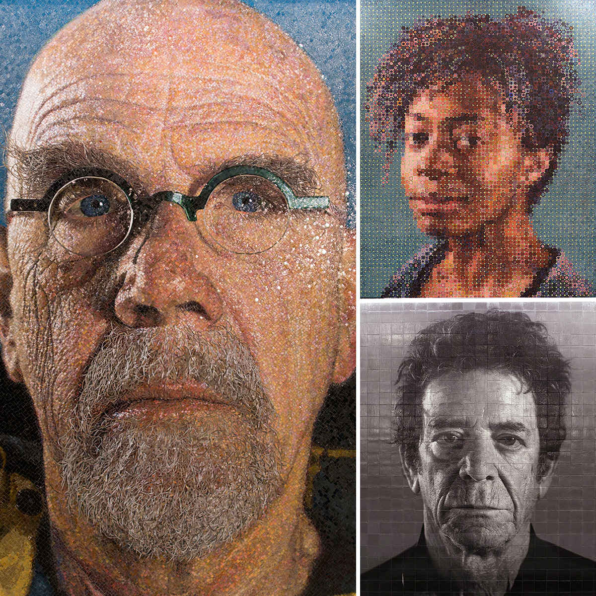 86th Street station. Art by Chuck Close.