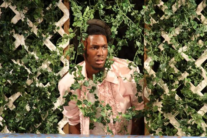 "Xavier Harvey as Benedick in Actors' Shakespeare Project's production of ""Much Ado About Nothing."""