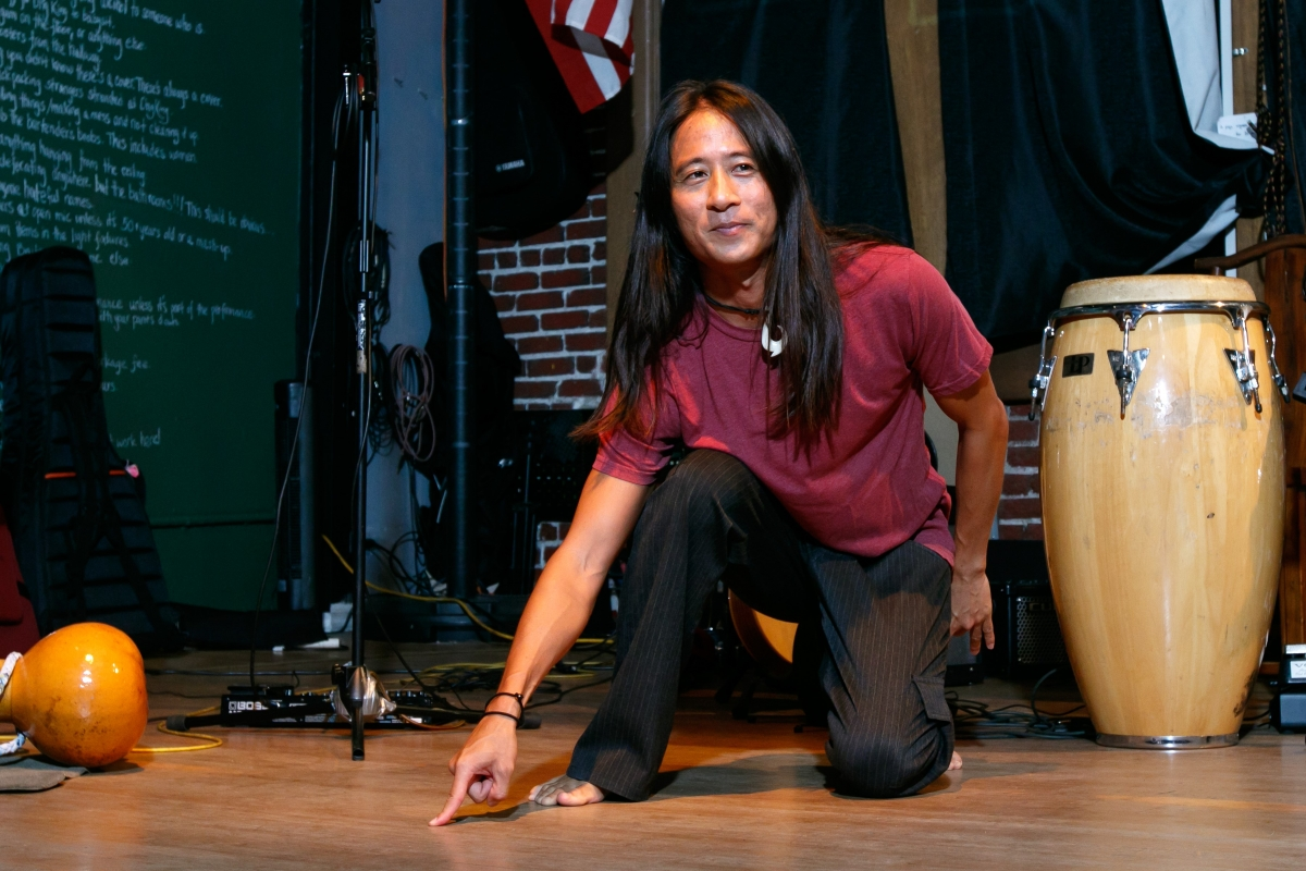 Kealoha in rehearsal for The Story of Everything. Photo courtesy of the artist.