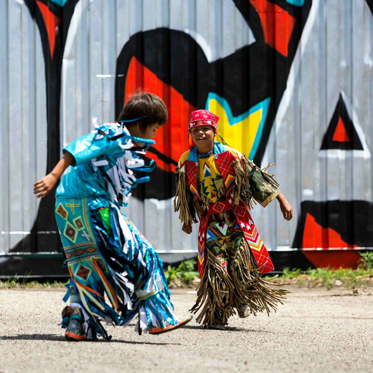 Lakota Youth Dancers at Red Can: Richard Steinberger
