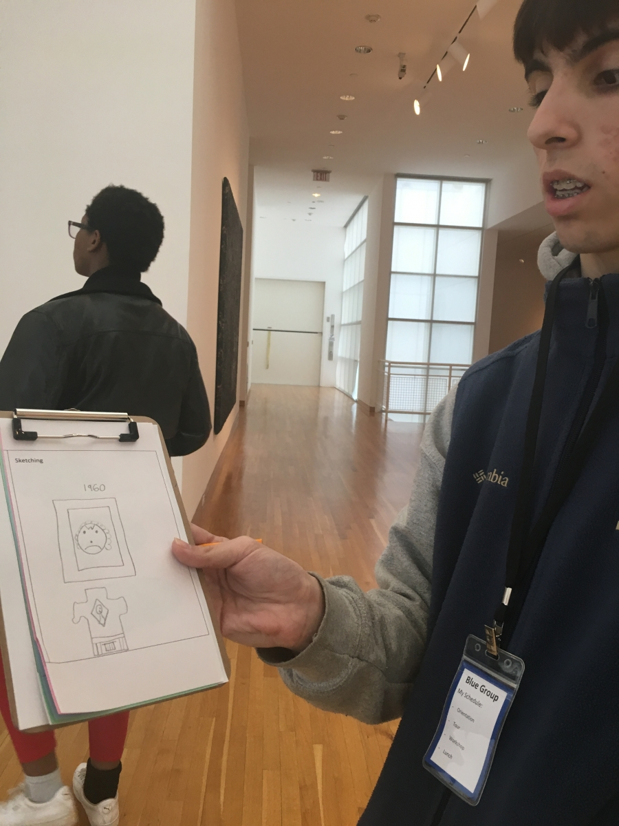 Tapestry Charter students explore the High's civil rights movement era photography collection through sketching and interactive art-making.