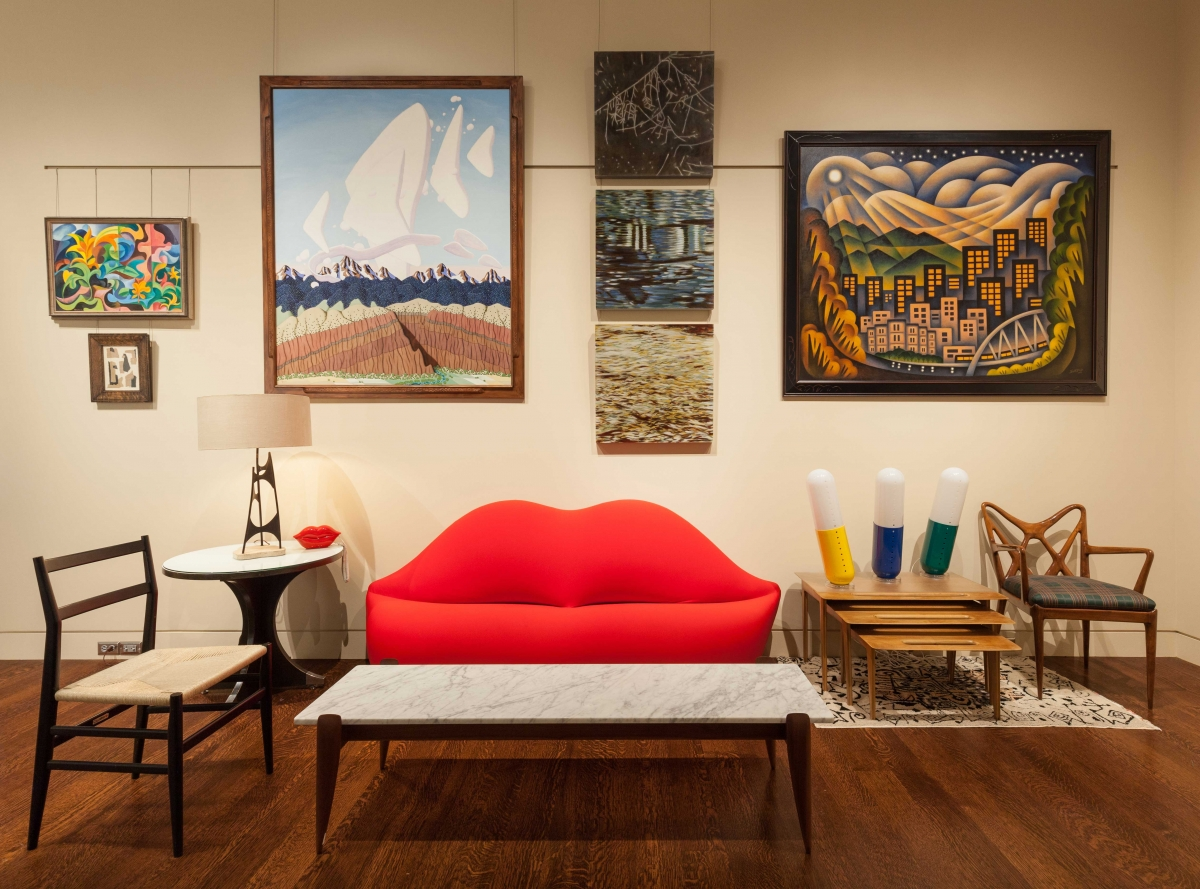 The Modern Italian Room at the Kirkland Museum. Photo by Wes Magyar.