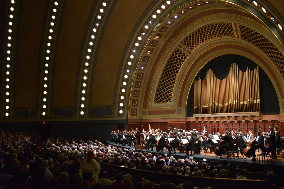 Hill Auditorium at UMS. Photo by Peter Smith.