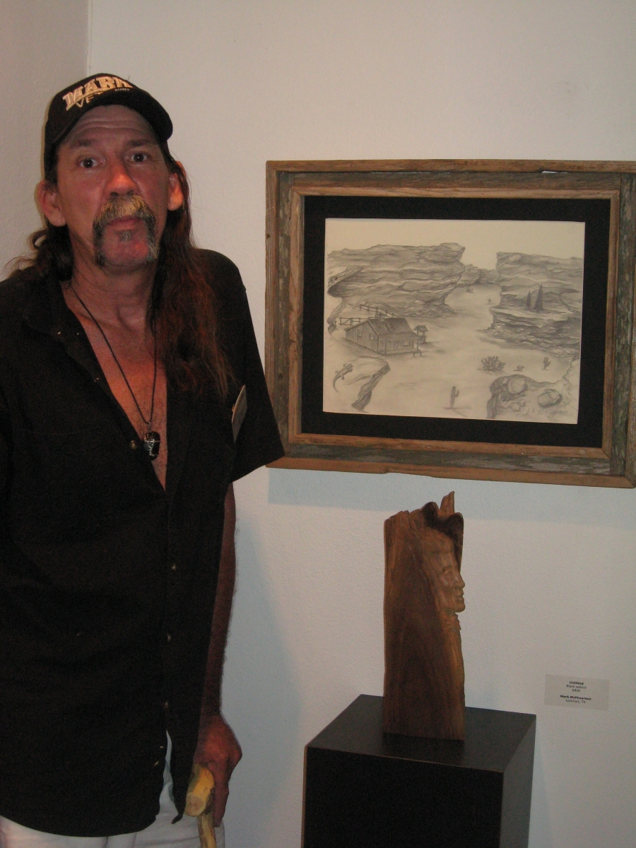 Artist Mark McPhearson at our first Veteran art exhibition.