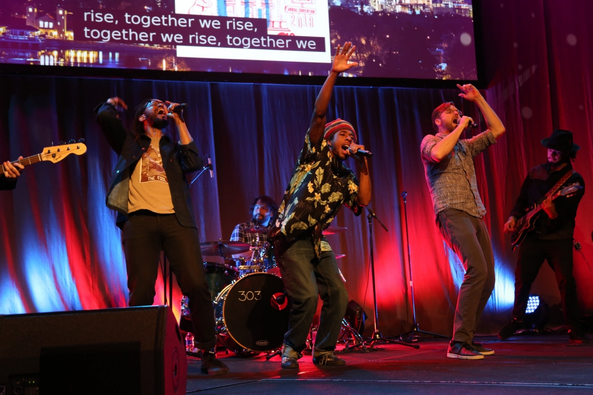 The Flobots and Youth on Record perform at Annual Convention.