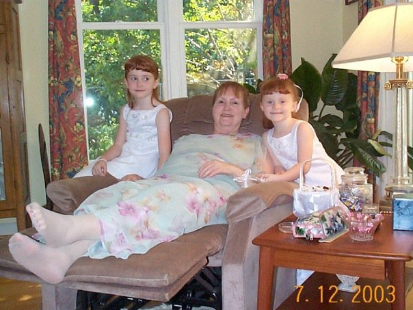 The author (right), her sister, and her Gran, who suffered from Parkinson's disease and inspired her love for dance.