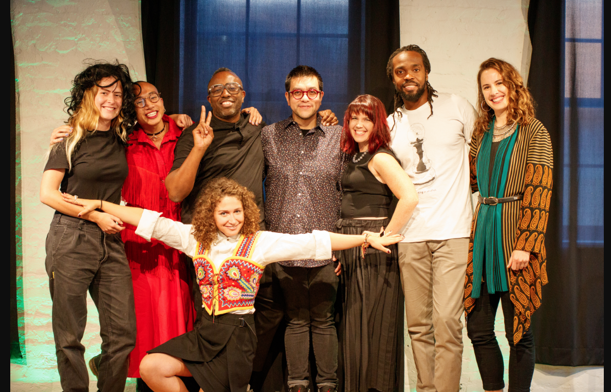 Halcyon Arts Lab's Year One Fellows (L-R): Estefani Mercedes, Antonius Bui, Chloe Bensahel, Sheldon Scott, Hosey Corona, Kristin Adair, Stephen Hayes, and Georgia Saxelby.