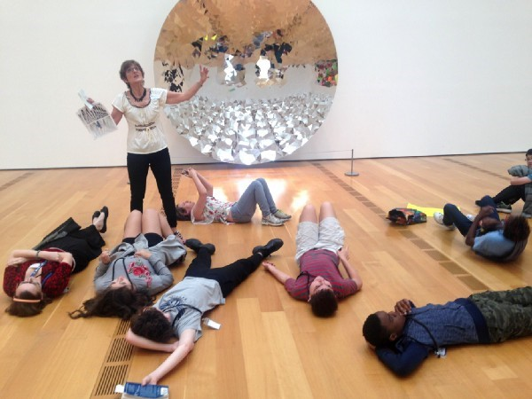 Students from Tapestry Charter School participate in an inclusive docent tour as part of a pilot program at the High Museum.