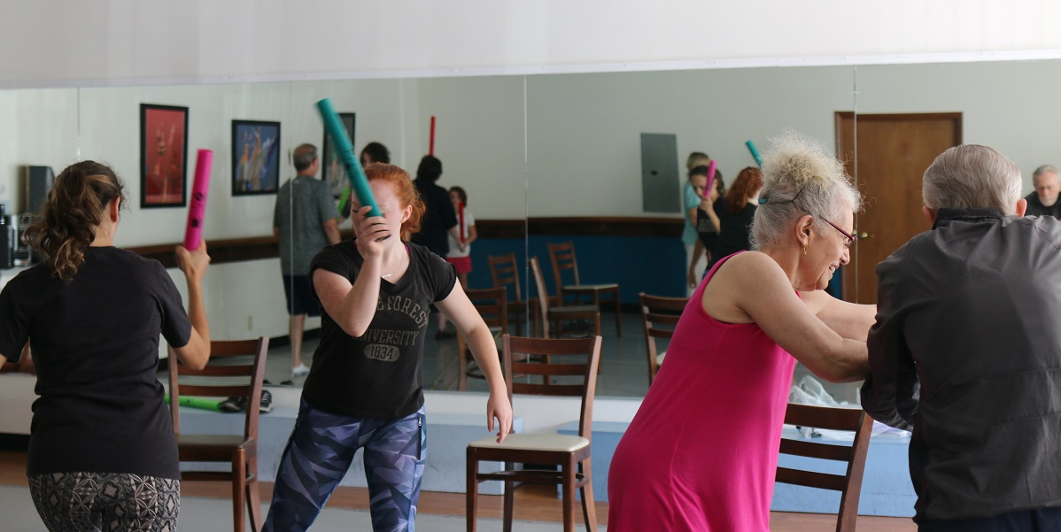 The IMPROVment class uses percussive tubes known as boomwhackers to add musicality for another layer to the challenge.