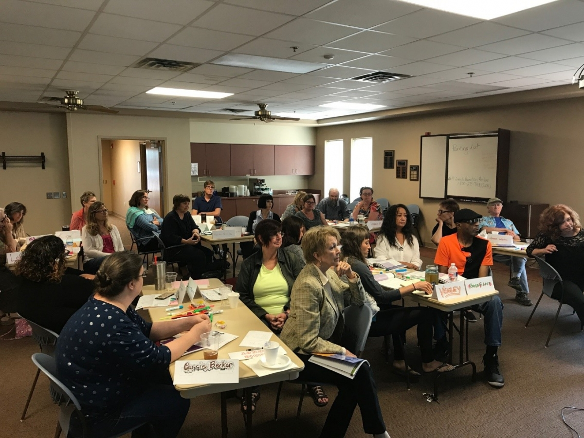 Salina Arts & Humanities helped co-sponsor a Mental Health First Aid class for 25 arts administrators and local artists in preparation for a community-wide arts and healing project.
