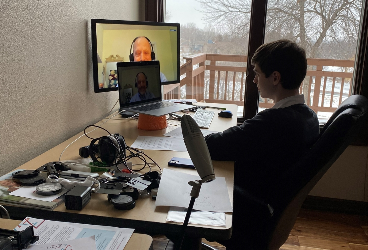 Sean Baker interviews Randy Cohen over video conference for his documentary film.